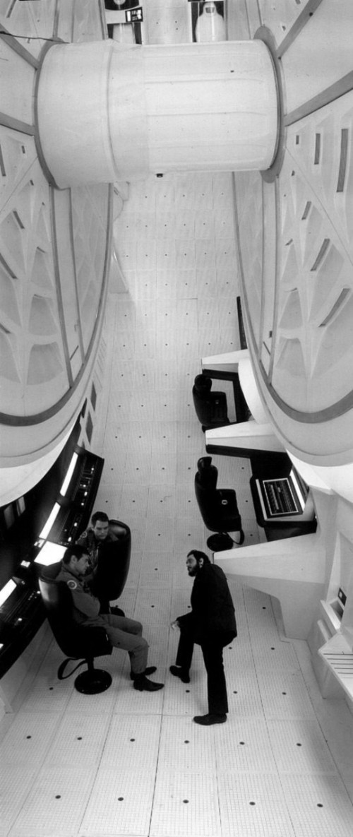 Black & white still from 2001 A Space Odyssey