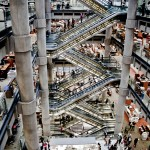 interior of the lloyd&#039;s of london building central atrium