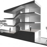 rendering of asmall staggered building