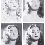 4 stages of drawing a woman's face by Andrew Loomis