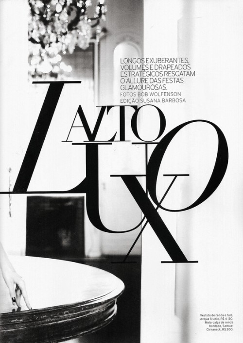 typographical title of a fashion shoot article