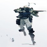 digital sketch of a soldier running with a gun
