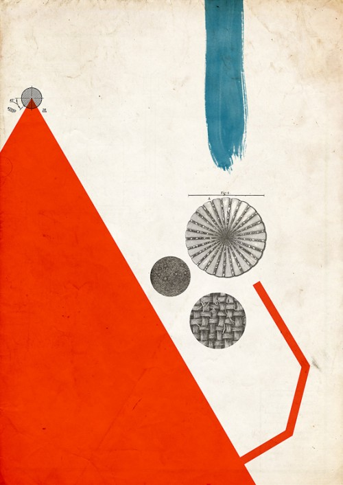 abstract poster with primary colours and graphic elements