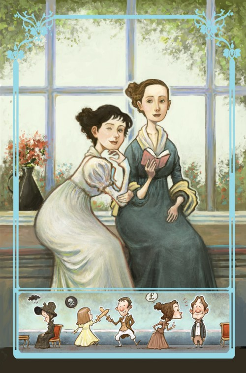 Cover of Sense & Sensibility comic book trade paperback