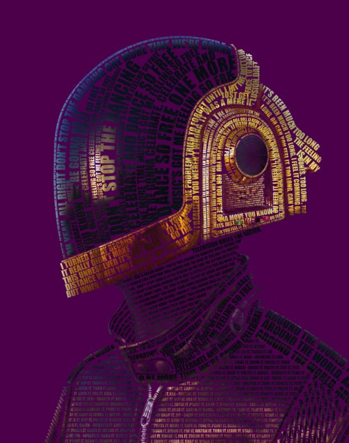 picture of Daft Punk made of typography