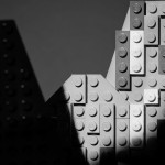 Moon and Half Dome Lego photo recreation