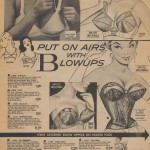 Vintage ad for corset and braw with blow-up enhancers