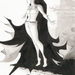 black &amp; white tone sketch of batman and catwoman by dustin nguyen