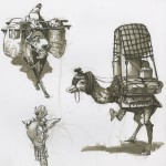 sketches of fantasy beasts of burdens