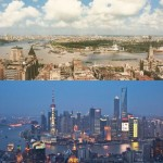 picture of shanghai cityscape 1990 vs 2010