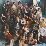 photograph of many women in the ford modelling agency
