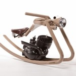 chopper motorcycle styled rocking horse