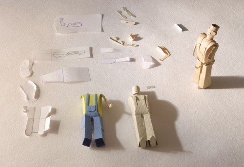 Assembling paper people