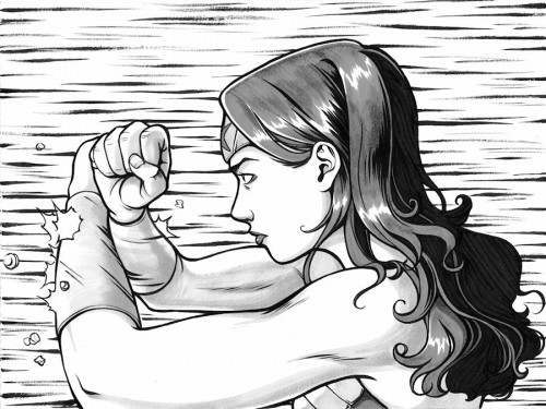 black and white wonder woman deflecting bullets