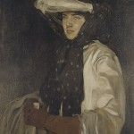portrait of woman in hat and gloves