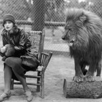 greta garbo and a lion