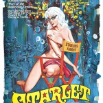 poster for starlet with nude woman on chair wearing glasses