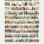 star trek pixel art poster featuring 235 characters