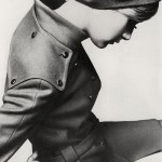 twiggy wearing overcoat and hat