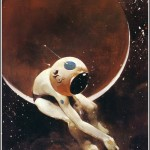 space explorer with hole in helmet by jeffrey catherine jones