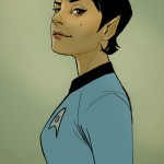 fan art of spock&#039;s daughter by phil noto