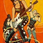 wonder woman, zatanna, black canary & batgirl as a rock band by cliff chiang