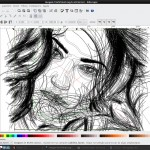 Megan Fox Inkscape wireframe by MadDrum (Luciano Lourenço)