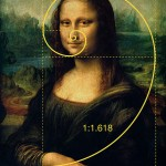 mona lisa with golden ratio spiral overlay