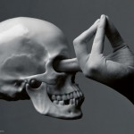 finger in skull