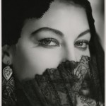 portrait of ava gardner with veil over mouth