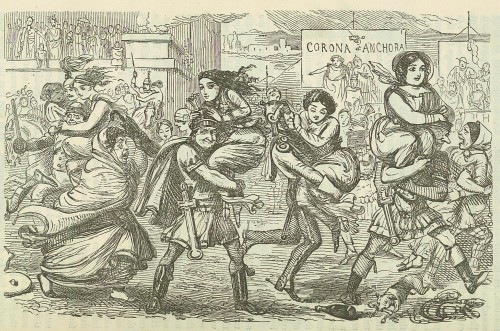 Romans walking off with the Sabine women