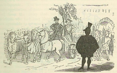 Patrician looking on at a triumphant General - Comic History of Rome
