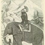 Hannibal Crossing Alps &#8211; Comic History of Rome p 173