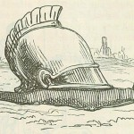 Snail with a Roman helmet as shell - Comic History of Rome