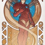 iron man art nouveau