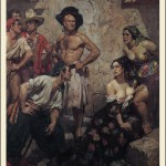 painting by norman lindsay of pirates and women