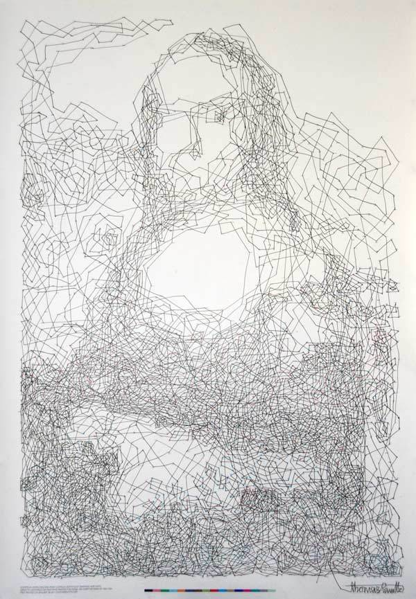 Mona Lisa – 6,239 dot to dot drawing