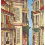 illustration of french street