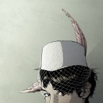Bird-wing hat by Matthew Woodson