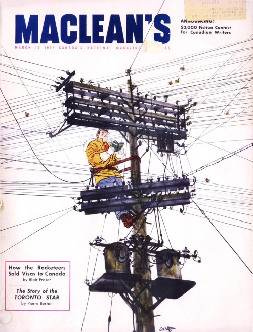 MacLean's magazine Illustrated by Oscar Cahén March 1952