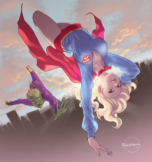 brainiac 5 and supergirl by ricken