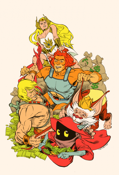 thundercats vs he-man and she-ra by adam moore
