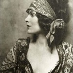 black & white portrait of evelyn brent in profile by henry waxman