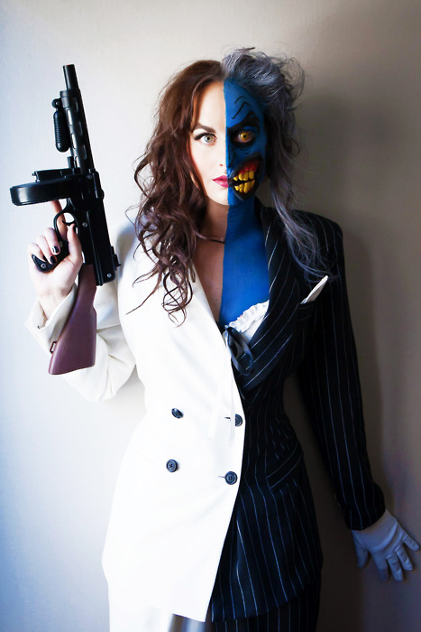 meagan marie cosplay as lady two-face