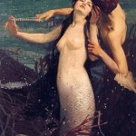 pearls for kisses by fred appleyard featuring mermaid and merman
