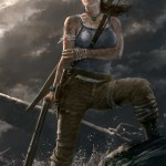 new tomb raider art by andy park featuring lara croft on seaside