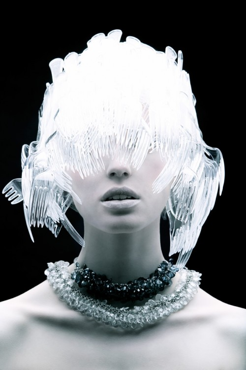 Plastic fork headress - Plastic Fantastic