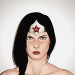 wonder woman art print by andre de freitas