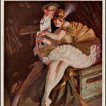 man whispering into ballerina&#039;s ear