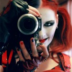 jackolyn as harley quinn recreating killing joke cover